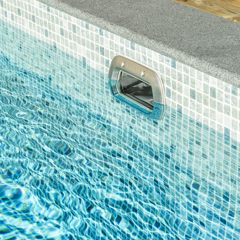 bräddavlopp pool montering